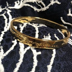 Lilly Pulitzer gold 'jungle' bangle